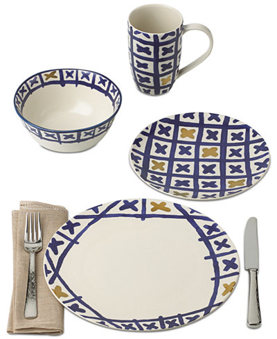 Crafted by Wainwright Pompeii Blu Land Dinnerware Collection, Created for Macy's