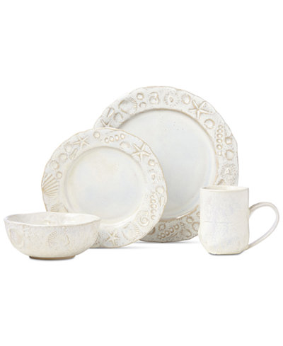 Crafted by Wainwright Boho Beach 4-Piece Place Setting, Created for Macy's