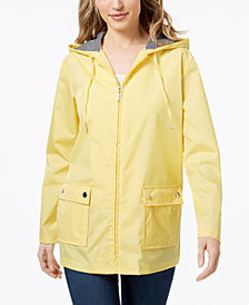 Karen Scott Hooded Rain Jacket, Created for Macy's