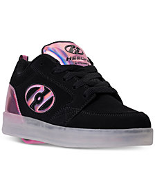 Heels Big Girls' Premium 1 Lo Light-Up Skate Casual Sneakers from Finish Line