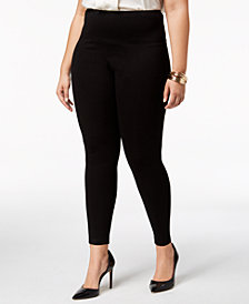 Lysse Women's  Ponte Center Seam Plus Size Leggings
