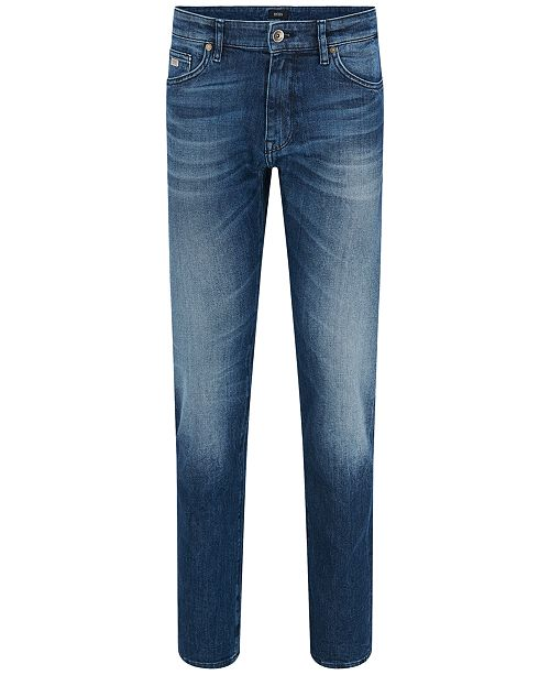 b9ca32e1c Hugo Boss BOSS Men's Regular/Classic-Fit 11-oz. Stretch Cotton Jeans ...