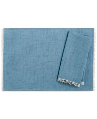 French Perle Denim Placemat