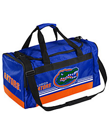 Forever Collectibles Florida Gators Striped Core Duffle Bag
