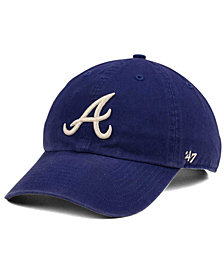 '47 Brand Atlanta Braves Timber Blue CLEAN UP Cap