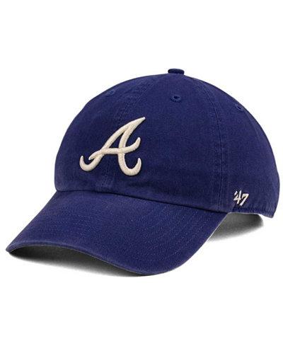 '47 Brand Atlanta Braves Timber Blue CLEAN UP Cap