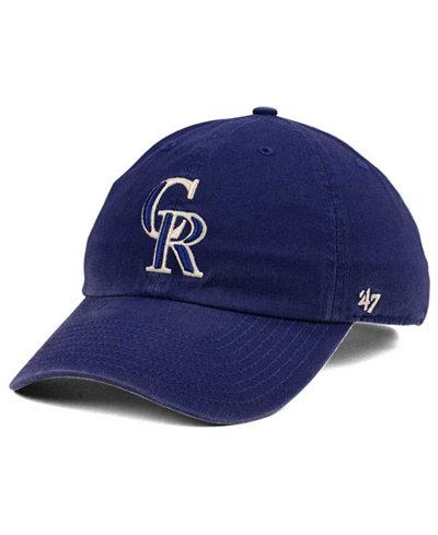 '47 Brand Colorado Rockies Timber Blue CLEAN UP Cap