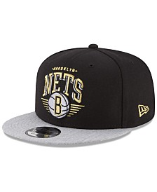 New Era Brooklyn Nets Gold Mark 9FIFTY Snapback Cap