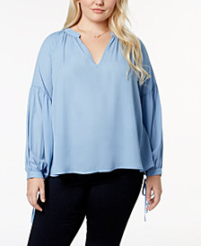 Say What? Trendy Plus Size V-Neck Blouse