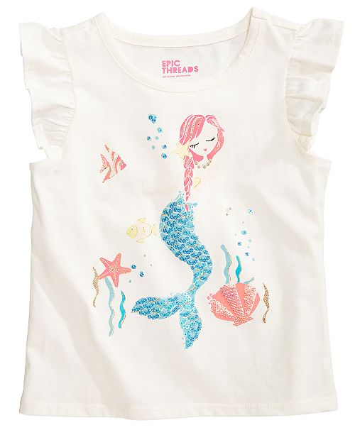 316beb40 Epic Threads Sequin Mermaid T-Shirt, Toddler Girls, Created for Macy's