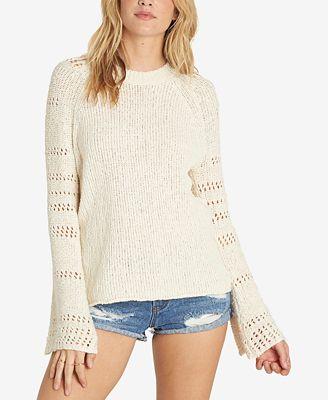 Billabong Juniors' Cozy Love Bell-Sleeve Sweater