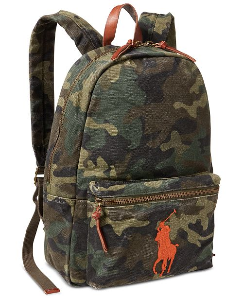 663a28d7aaf Polo Ralph Lauren Men s Camouflage Canvas Backpack - Bags ...
