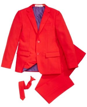 OppoSuits Red Devil SlimFit Suit  Tie Set Big Boys (820)