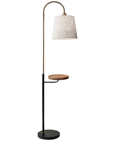 Adesso Jeffrey Shelf Floor Lamp with USB Port