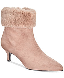 Impo Esra Faux-Fur Cuff Pointed-Toe Booties