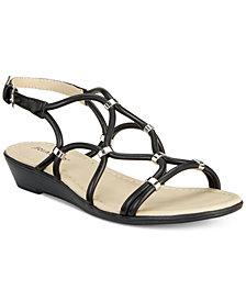 Rialto Gillian Strappy Wedge Sandals