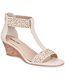 Rialto Cleo Embellished Wedge Sandals