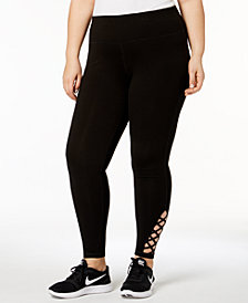 Ideology Plus Size Cutout Leggings, Created for Macy's