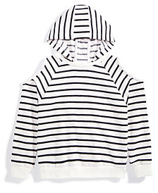Nowadays x Bailee Madison Cold-Shoulder Striped Hoodie, Big Girls & Juniors