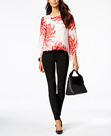 Alfani Blouson Top & Skinny Pants, Created for Macy's
