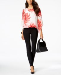 Alfani Blouson Top & Skinny Pants, Created for Macy's