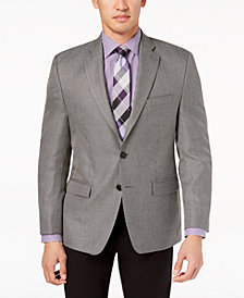 Lauren Ralph Lauren Men's Big & Tall Classic-Fit Ultraflex Gray Multi-Tic Weave Sport Coat