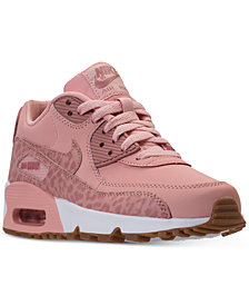 Nike Big Girls' Air Max 90 Leather Running Sneakers from Finish Line