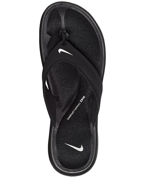 newest collection aa604 3bdfe ... Nike Women s Ultra Comfort Thong Flip Flop Sandals from Finish ...