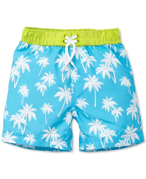 c02b71b141765 Little Me Palm-Print Swim Trunks, Baby Boys & Reviews - Swimwear ...