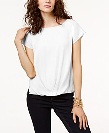 INC Draped-Hem Top, Created for Macy's