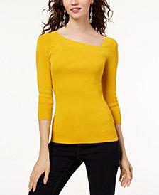I.N.C. Petite Asymmetrical Sweater, Created for Macy's