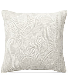 "CLOSEOUT! Lucky Brand Heavy Embroidered 16"" Square Decorative Pillow"