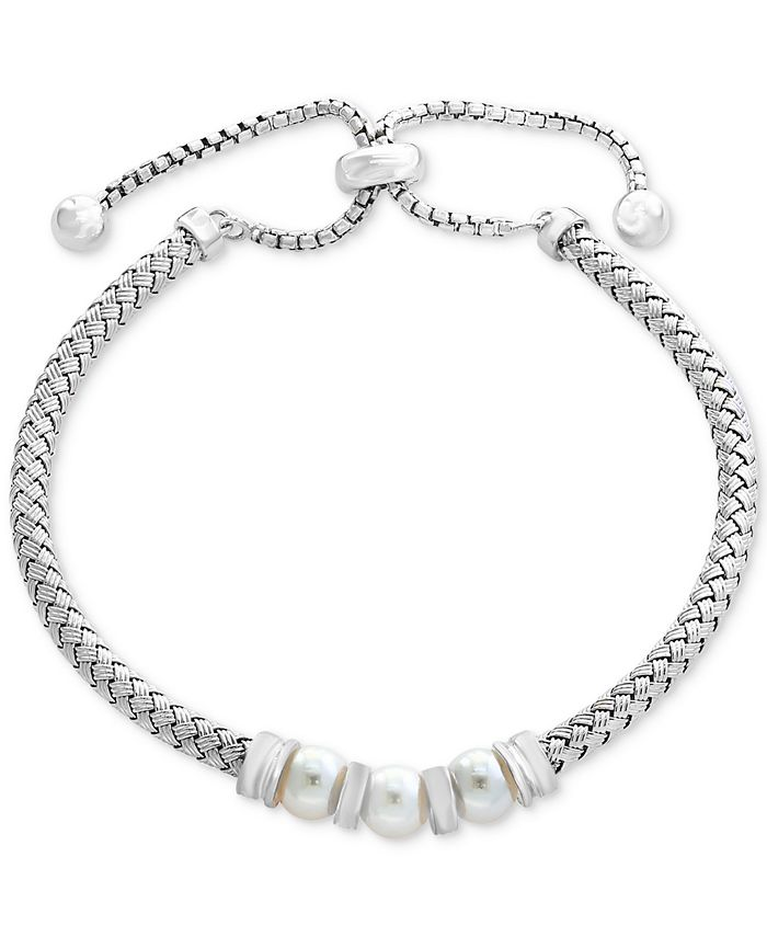 EFFY Collection - Cultured Freshwater Pearl (6mm) Bolo Bracelet in Sterling Silver