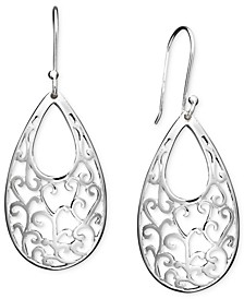 Open Filigree Drop Earrings in Sterling Silver, Created for Macy's