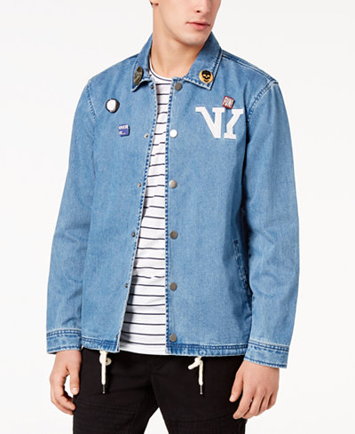 American Rag Men's Pin & Patch Jacket, Created for Macy's