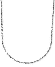 "20"" Italian Gold Perfectina Chain Necklace (1-1/3mm) in 14k White Gold"