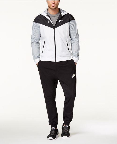 abda91e5f Nike Men's Windrunner Jacket, Dri-FIT T-Shirt, & Logo Joggers ...