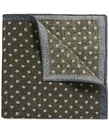 BOSS Men's Polka Dot Wool Pocket Square