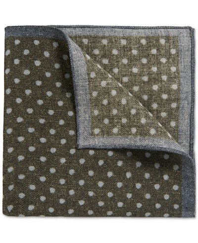 BOSS Men's Polka Dot Wool Pocket Square