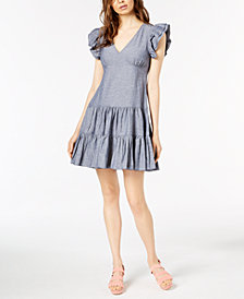 Jill Jill Stuart Ruffled Denim Dress, Created for Macy's