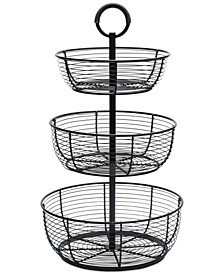 Gourmet Basics By Round Wrap 3-Tier Basket