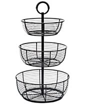 Gourmet Basics By Mikasa Round Wrap 3-Tier Basket