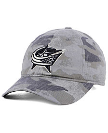 adidas Columbus Blue Jackets Camo Slouch Cap