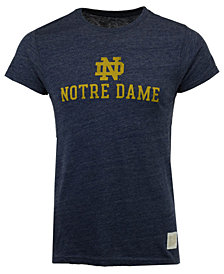 Retro Brand Men's Notre Dame Fighting Irish Retro Logo Tri-Blend T-Shirt