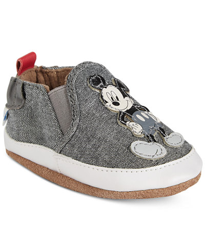 Robeez Old School Mickey Mouse Shoes, Baby Boys