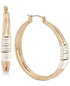 Robert Lee Morris Soho Two-Tone Wire-Wrapped Hoop Earrings