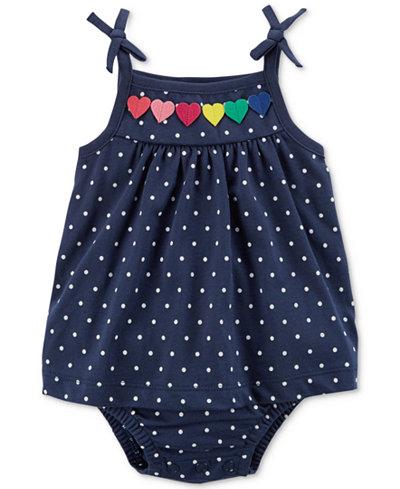 Carter's Dot-Print Cotton Sunsuit, Baby Girls