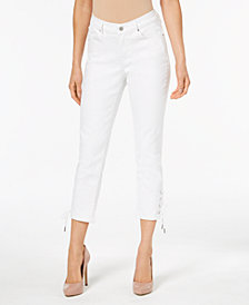 Levi's® Lace-Up Cropped Jeans