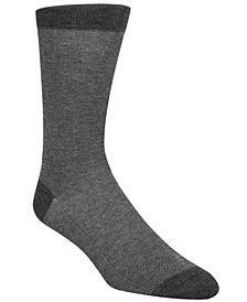 Cole Haan Men's Piqué Knit Textured Crew Socks