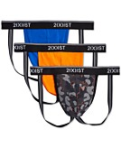 2xist Mens Cotton Stretch Jock Strap 3-Pack